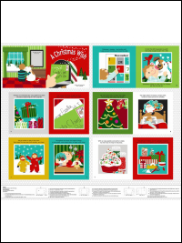"Studio E ""A Christmas Wish"" # 3721P-88 – Christmas Book Panel"