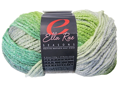 "Ella Rae ""Seasons"" Yarn - colour: 48, dye lot: S-196 - Greens"