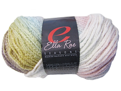 "Ella Rae ""Seasons"" Yarn - colour: 46, dye lot: S-194 - Pastel Rainbow"