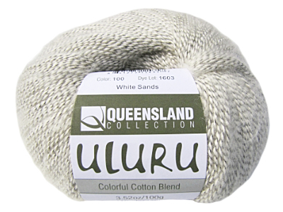 "Queensland Collection ""Uluru"" Yarn - color: 100, dye lot: 1603 - White Sands"