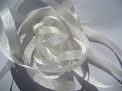 YLI Silk Ribbon, 7mm — 001 (natural white)