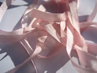 YLI Silk Ribbon, 7mm — 007 (baby pink)