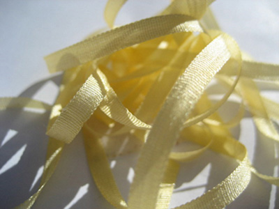 YLI Silk Ribbon, 7mm — 014 (yellow)