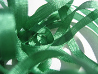 YLI Silk Ribbon, 7mm — 019 (fern green)