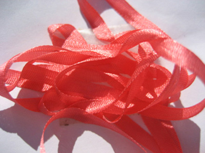 YLI Silk Ribbon, 7mm — 025 (calypso pink)