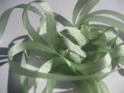 YLI Silk Ribbon, 7mm — 031 (light sage)