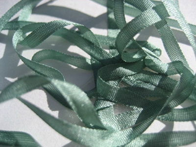 YLI Silk Ribbon, 4mm — 032 (sage)