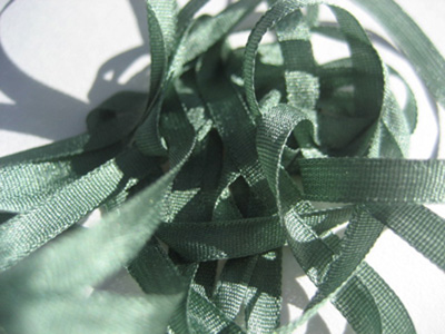 YLI Silk Ribbon, 4mm — 033 (dark sage)