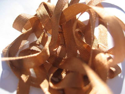 YLI Silk Ribbon, 4mm — 036 (golden brown)