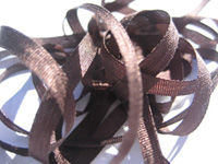 YLI Silk Ribbon, 4mm — 038 (dark brown)_THUMBNAIL