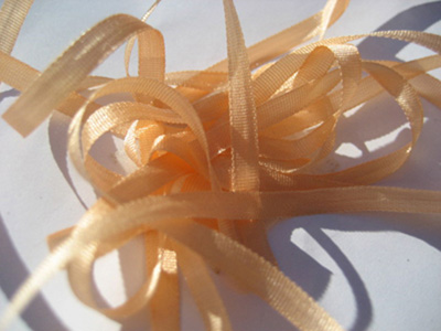 YLI Silk Ribbon, 4mm — 039 (peach)