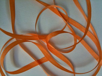 YLI Silk Ribbon, 4mm — 040 (tangerine)_MAIN