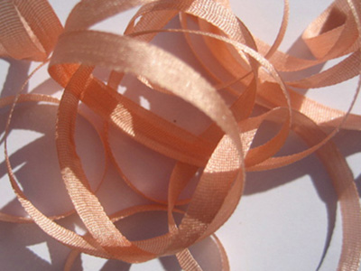 YLI Silk Ribbon, 2mm — 042 (light persimmon)