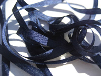 YLI Silk Ribbon, 4mm — 047 (navy)
