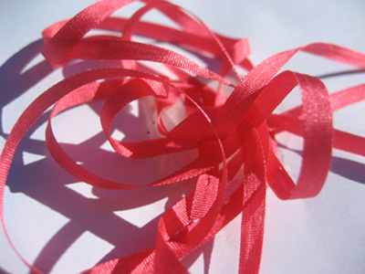 YLI Silk Ribbon, 7mm — 048 (geranium)_MAIN