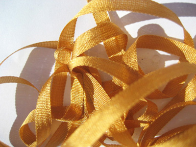 YLI Silk Ribbon, 4mm — 055 (dark gold)