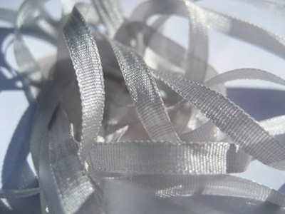 YLI Silk Ribbon, 4mm — 058 (pearl gray)