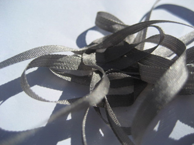 YLI Silk Ribbon, 4mm — 059 (dark gray)