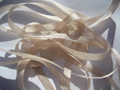 YLI Silk Ribbon, 4mm — 065 (rosy beige)