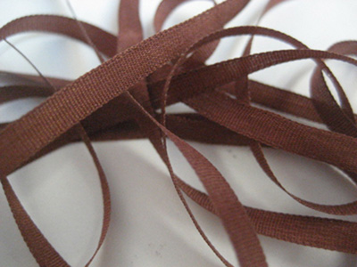 YLI Silk Ribbon, 4mm — 067 (copper brown)