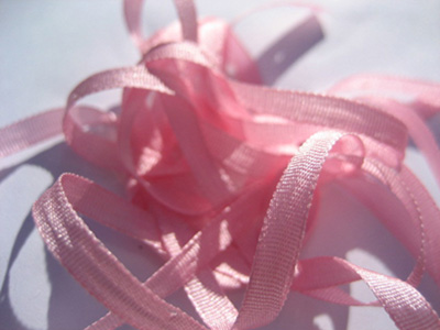 YLI Silk Ribbon, 4mm — 068 (medium pink)
