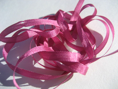 YLI Silk Ribbon, 2mm — 070 (magenta)