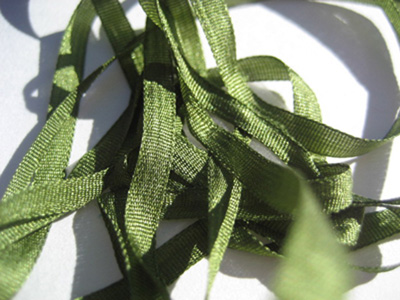 YLI Silk Ribbon, 4mm — 072 (olive)