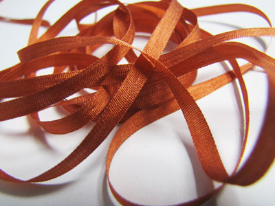 YLI Silk Ribbon, 4mm — 079 (Georgia clay)_MAIN