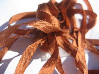 YLI Silk Ribbon, 4mm — 080 (brick)