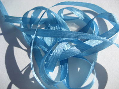 YLI Silk Ribbon, 4mm — 081 (ocean spray)