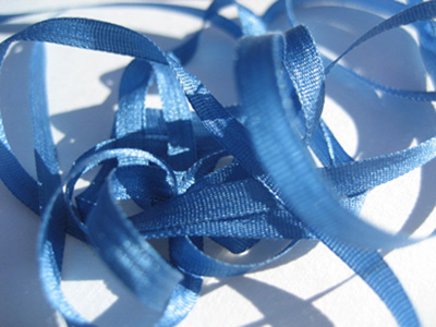 YLI Silk Ribbon, 4mm — 082 (deep ocean blue)