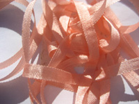 YLI Silk Ribbon, 4mm — 087 (conch shell peach)