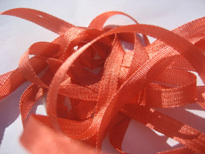 YLI Silk Ribbon, 4mm — 088 (mango)