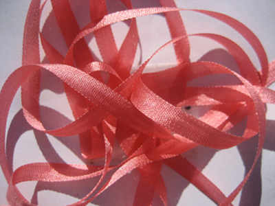 YLI Silk Ribbon, 2mm — 091 (flamingo)