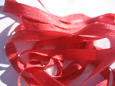 YLI Silk Ribbon, 4mm — 093 (hibiscus)