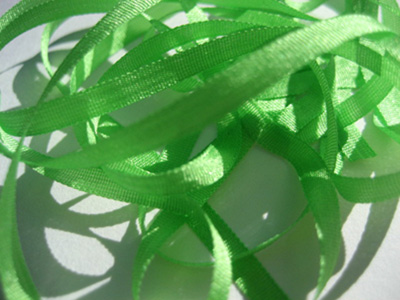 YLI Silk Ribbon, 4mm — 095 (lime)