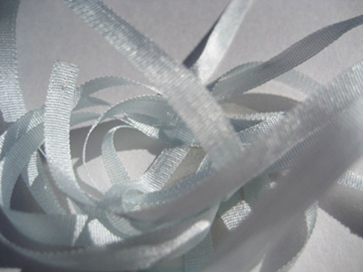 YLI Silk Ribbon, 4mm — 097 (hint of blue)