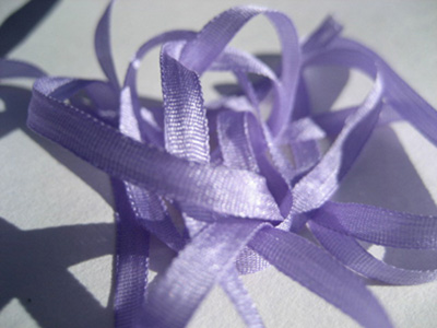 YLI Silk Ribbon, 7mm — 101 (lilac)