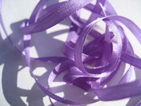 YLI Silk Ribbon, 4mm — 102 (amethyst)