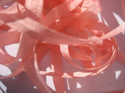 YLI Silk Ribbon, 7mm — 103 (shell pink)