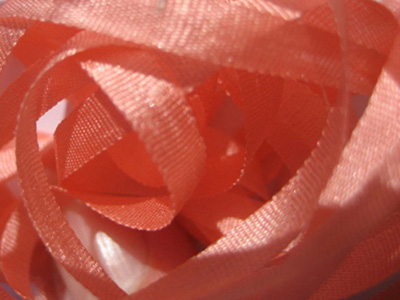 YLI Silk Ribbon, 4mm — 104 (salmon)
