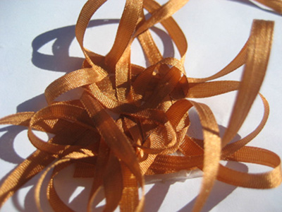 YLI Silk Ribbon, 4mm — 107 (marigold)_MAIN