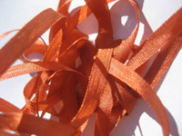 YLI Silk Ribbon, 4mm — 109 (dark pumpkin)