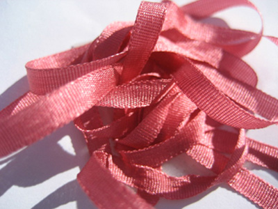 YLI Silk Ribbon, 7mm — 113 (coral rose)