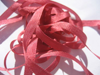 YLI Silk Ribbon, 7mm — 114 (deep coral rose)