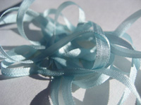 YLI Silk Ribbon, 2mm — 115 (light aquamarine)