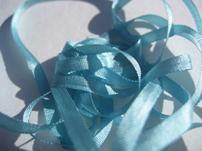 YLI Silk Ribbon, 4mm — 116 (aquamarine)