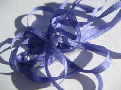 YLI Silk Ribbon, 4mm — 117 (periwinkle)