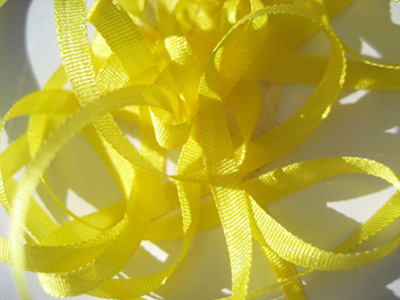 YLI Silk Ribbon, 4mm — 120 (lemon)