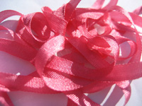 YLI Silk Ribbon, 4mm — 123 (coral pink)